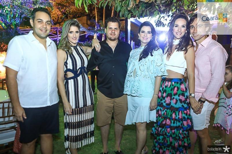 Bruno e Rebeca Bastos, Humberto e Priscila Fontenele, Marcela e Rodrigo Carvalho