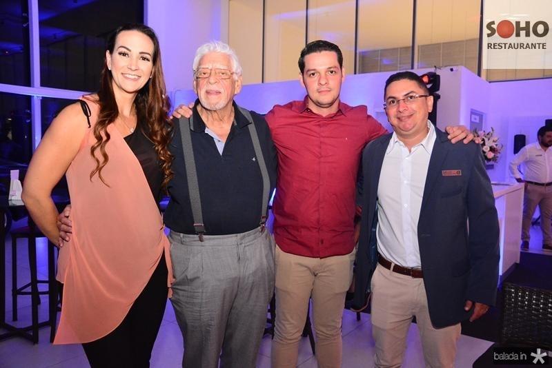 Deyse Terra, Renato Torrano, Saulo Parente e Alexandre Lopes