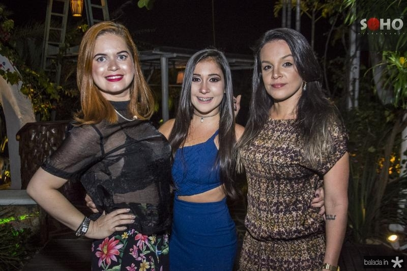 Germana Freitas, Natasha Silveira e Manuela Feitosa