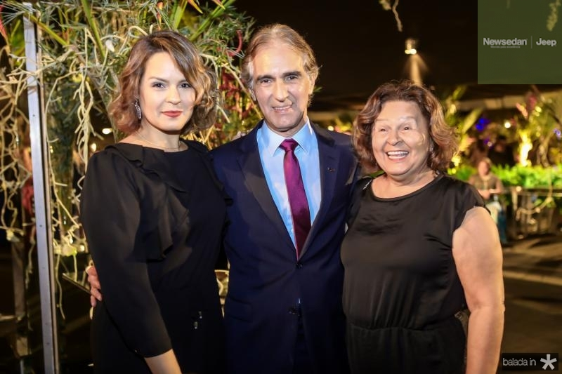 Glenda Sampaio, Antonio Carlos e Wanda Sampaio