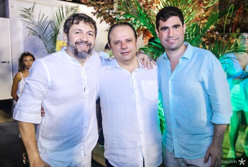 Elcio Batista, Claudio Pinho e Bruno Barreira