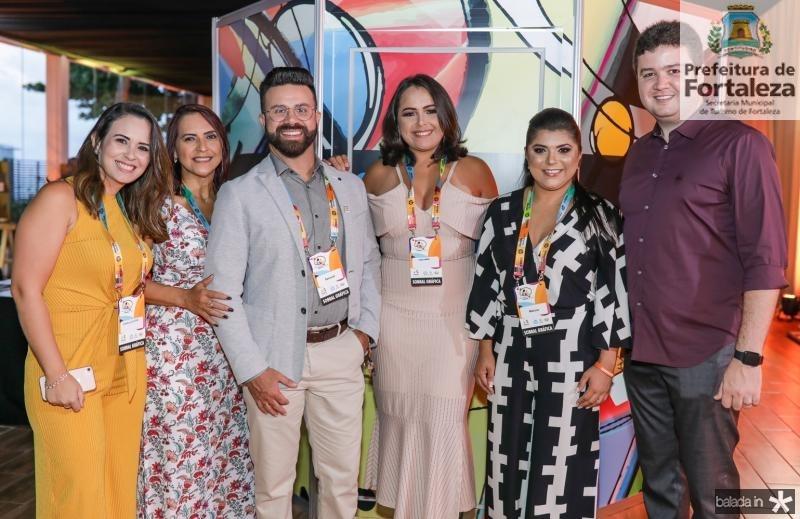 Camila Giffone, Eva Lino, Samuel Ramos, Tarciana Borges, Marcia Bezerra e Antunes Brito