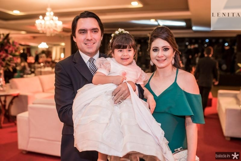 Fernando, Cibele e Luiza Castelo Branco