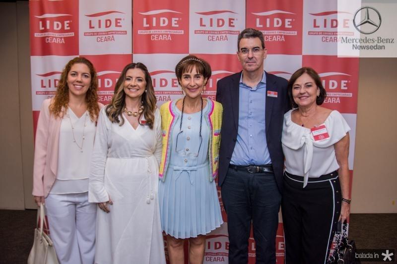 Ticiana Rolim Queiroz, Emilia Buarque, Viviane Senna, Geraldo Luciano e Ana Studart