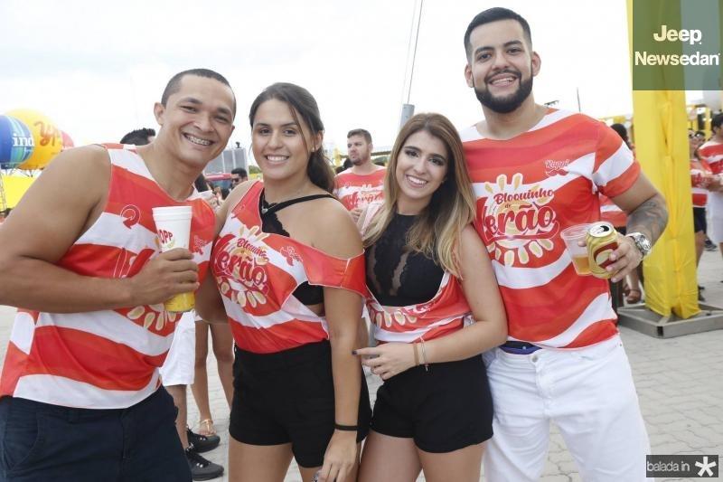 Pedro Moura, Jessica Leitao, Larisse Santiago e Pedro Barroso