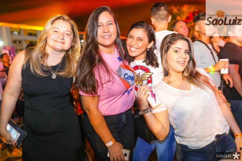 Rosa Morais, Leiliane Araujo, Vanessa Lopes e Daniele Lima