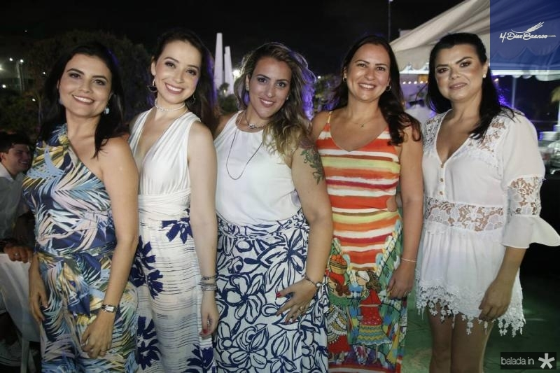 Cinthia Alcoforado, Jaine Cubas, Giselle Tilly, Camila Nobre e Cybelle Alcoforado