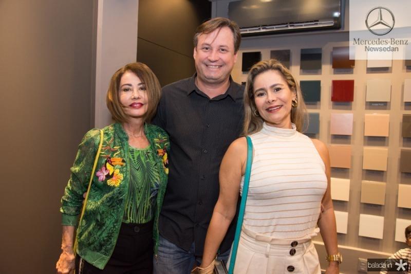 Teresa Paiva, Jociano Schunke e Gina Paiva