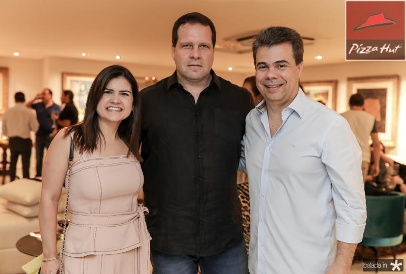 Ticiana Brigido, Edson Ventura Filho e Duda Brigido