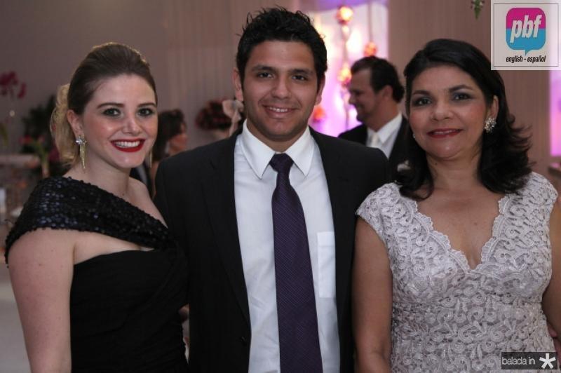 Vanessa Serra, Eduardo Camara e Celina Castrro Alves