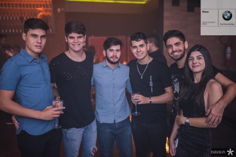 Rafael Muniz, Eduardo Garcia, Israin Junior, Patrick Lopes, Beto Perini e Maiara Fideles