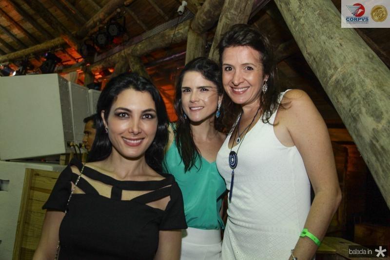 Daniele Linheiro, Marilia Vasconcelos e Marina Baquit