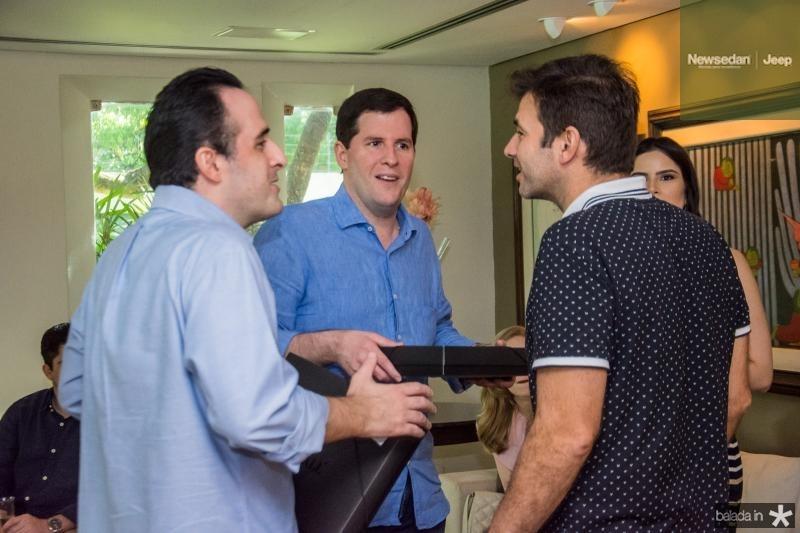 Leonardo Carneiro, Rodrigo Carneiro e Germano Franck