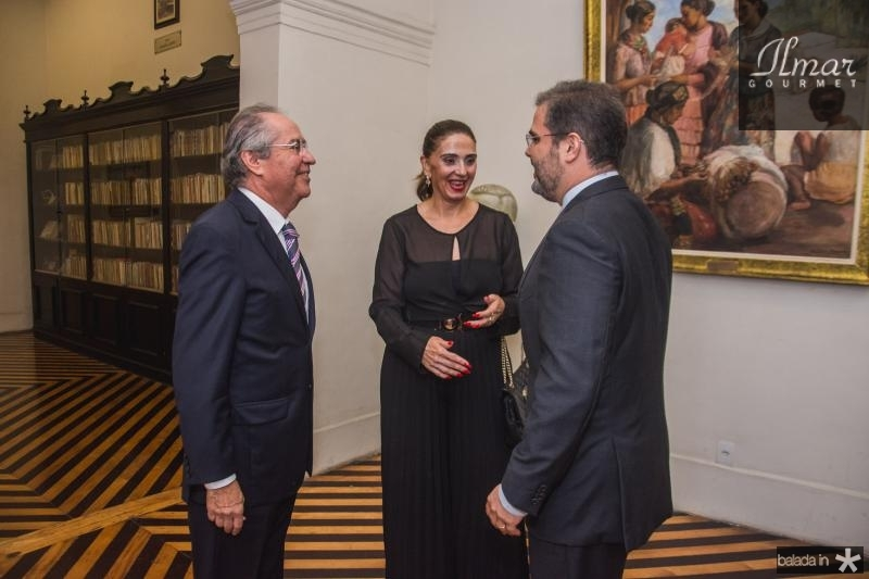 Pedro Gomes de Matos, Magda Busgaib e Edson Queiroz