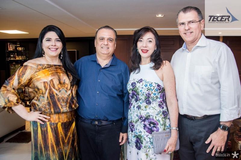 Sellene Câmara, Max Câmara, Gina Pompeu e Randal Pompeu