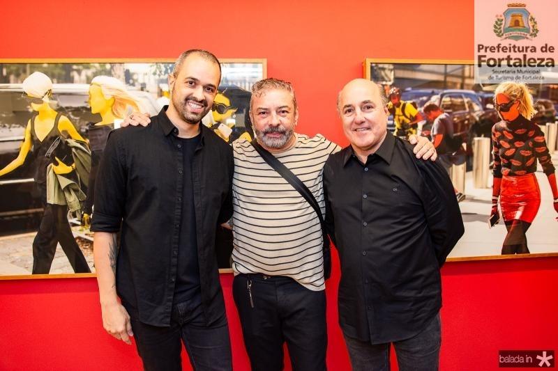 Leo Faria, Claudio Silveira e Silvio Frota