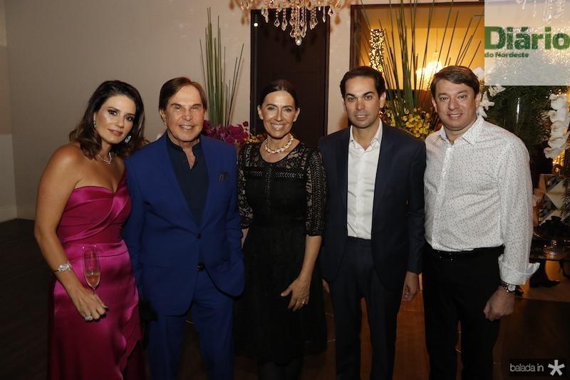 Renata Studart, Lazaro Medeiros, Flora Gil, Claudio Vale e Paulo Vale