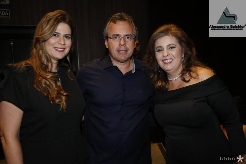 Mirela Accioly, Gerson Cecchini e Valeria Mannarino