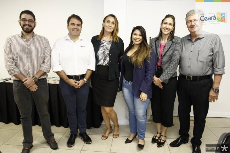 Raul Neris, Marco Aurelio, Myrella Abreu, Luiza Dantas, Alessandra Romano e Carlos Maia