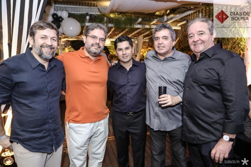 Elcio Batista, Edson Queiroz Neto, Pompeu Vasconcelos, Totonho Laprovitera e Chiquinho Aragao