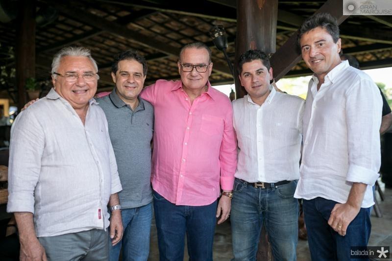 Idemar Cito, Evandro Leitao, Chiquinho Feitosa, Pompeu Vasconcelos e Luis Teixeira