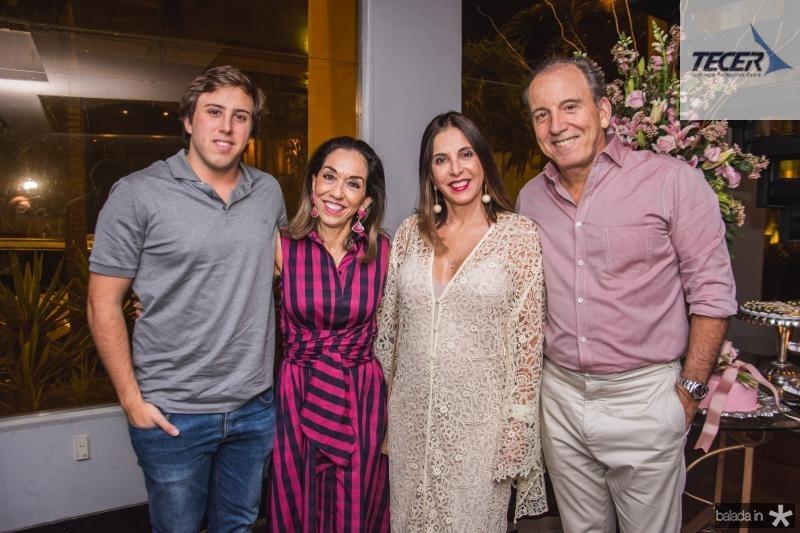 Rodrigo Bezerra, Marcia Tavora, Luciana Bezerra e Bil Bezerra