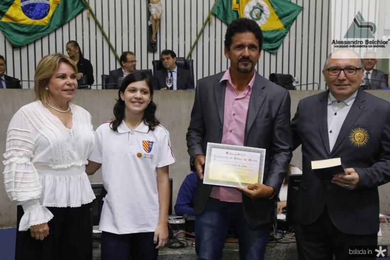 Albaniza Gomes, Manuela Almeida, Roberto Lopes e Padre Eugenio
