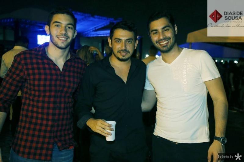 Demetrio Dibe, Mateus Bechara e Marcelo Sabino
