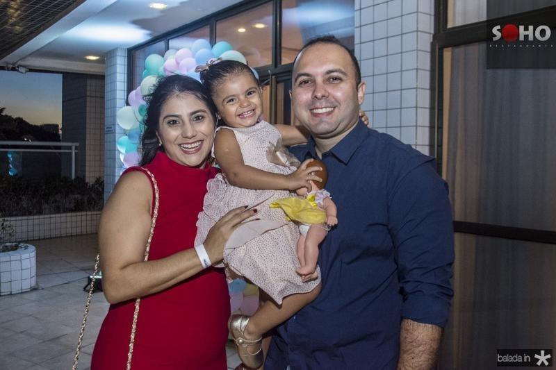 Nathalia Teixeira, Lais Teixeira e Rafael Carneiro