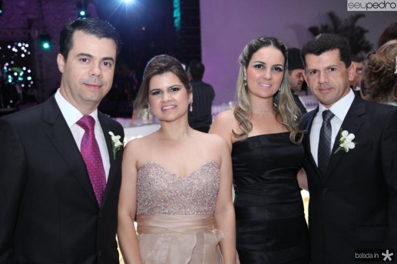 Duda e Ticiana Brigido, Raquel e Erick Vasconcelos