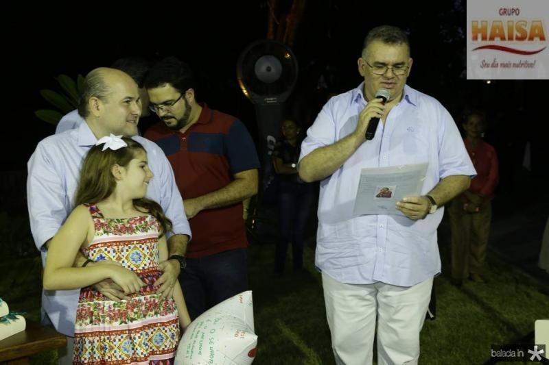 Roberto Claudio e Isabela Bezerra e Padre Emilio