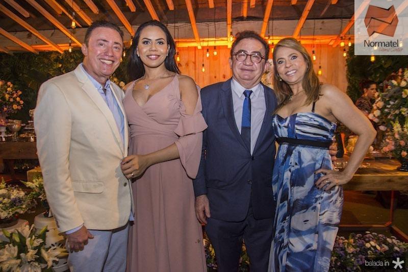 Darlan Leite, Ana Leite, Manoel Linhares e Morgana Linhares