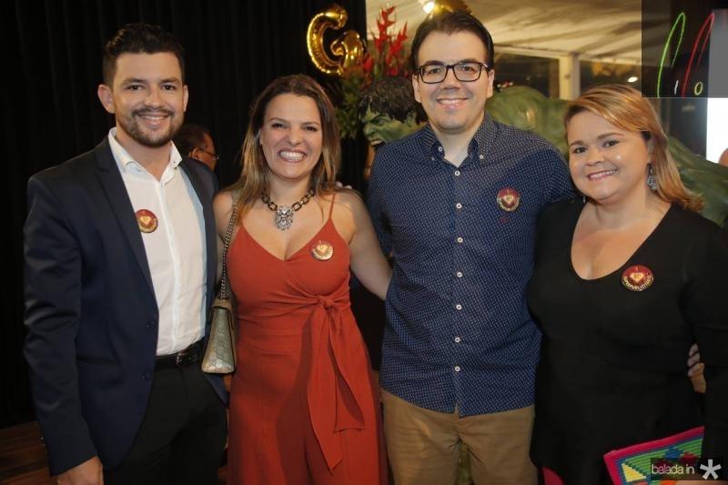 Albanir Americo, Ivana Pimentel, Gustavo Rocha e Karina Parente