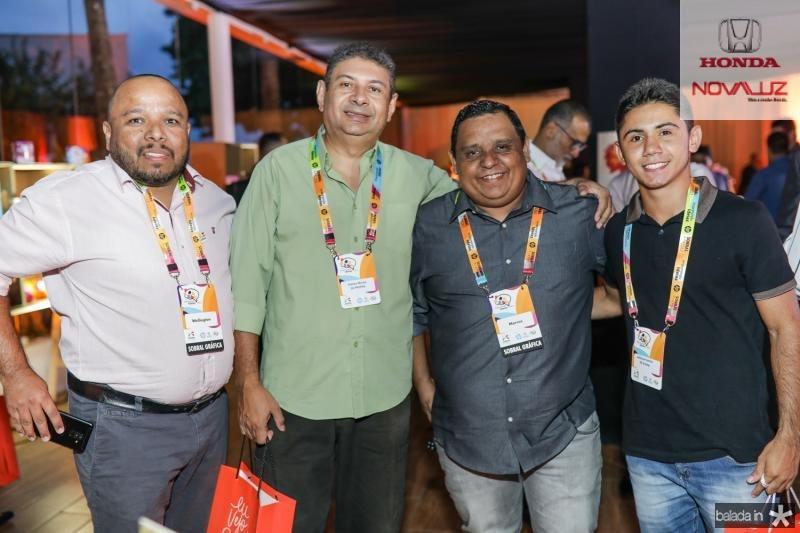 Welington Ribeiro, Kleiton Morais, Marcos Carvalho e Jefferson Santos
