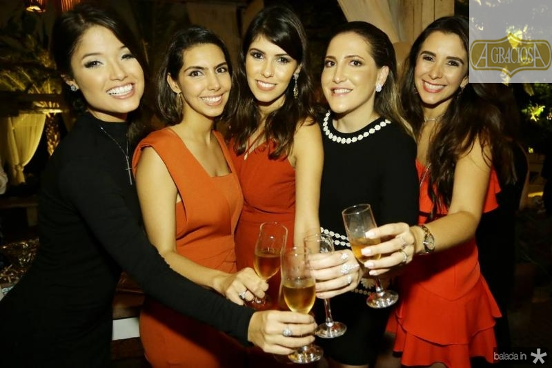 Luma Cavalcante, Carla Laprovitera, Flavia Simoes, Mariel Pontes e Vivian Barbosa