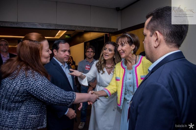 Aline Barroso, Igor Barroso, Emilia Buarque, Viviane Senna e Germano Belchior