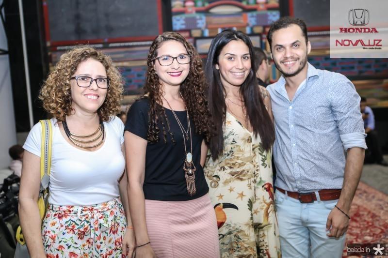 Sonia Laje, Daniele Andrade, Kiara Aires e Viana Junior