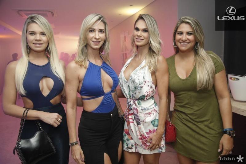 Roberta Tatiana, Sinara Teixeira, Larissa Sales e Nadia Tavares