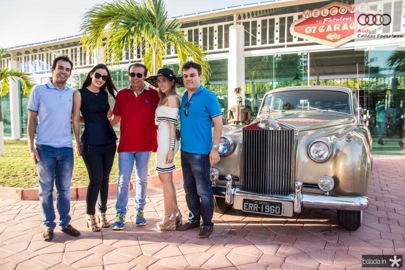 Gaudencio Junior, Talita Carneiro, Gaudencio Lucena, Ingrid Lucena e Marcos Freire