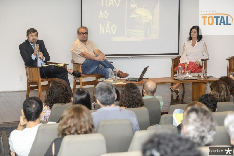 Elcio Batista, Paulo Linhares e Gloria Diogenes