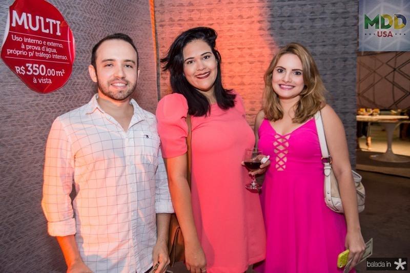 Pedro Brilhante, Patricia Gomes e Jessica Mota