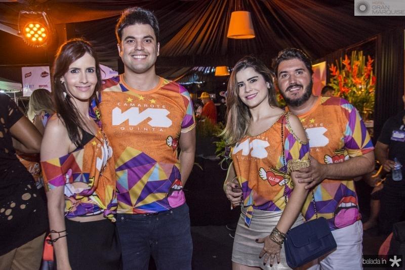 Julia Perdigao, Igor Perdigao, Cibele Silva e Thiago Silva