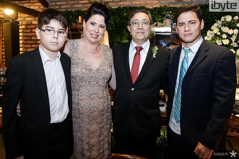 Eduardo, Patricia, Jose e Danilo Jereissati