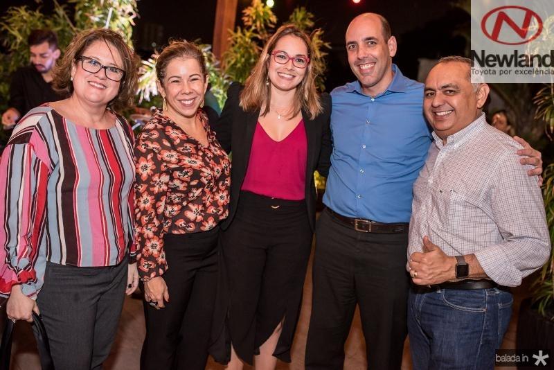 Claudia Farias, Renata Aguiar, Mayra Pereira, Glauber Araujo e  Carlos Freitas
