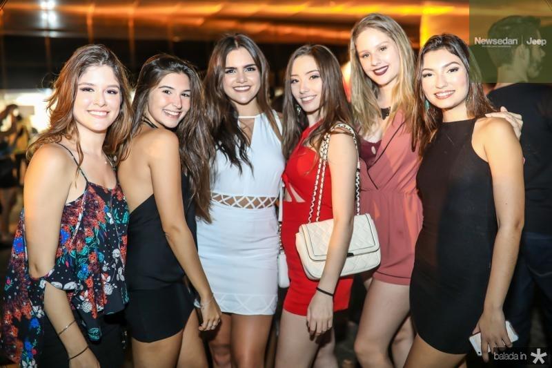 Taina Carioca, Giovanna Adolfe, Lara Gress, Melina Albuquerque, Leticia Ribeiro e Julia Mapurunga