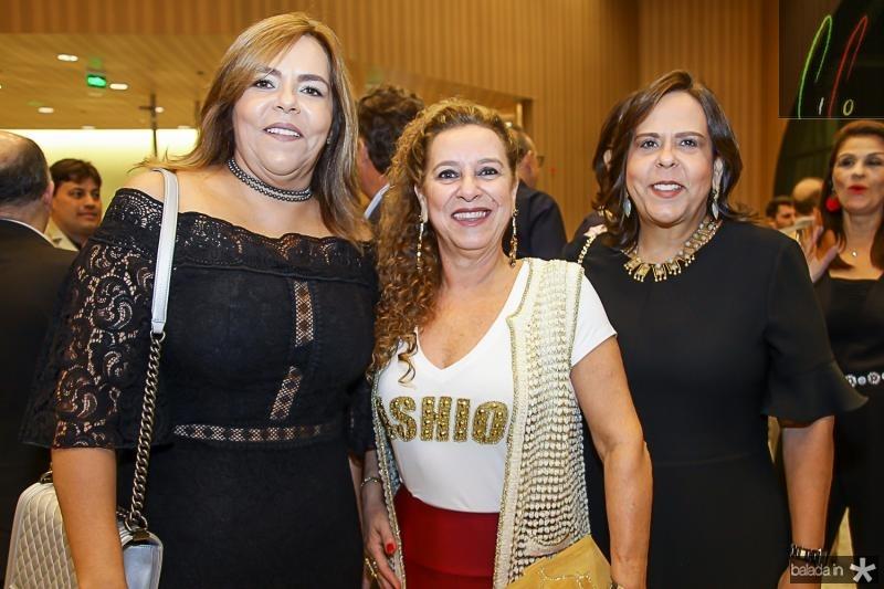 Ailza Ventura, Bricia Teixeira e Liana Fiuza