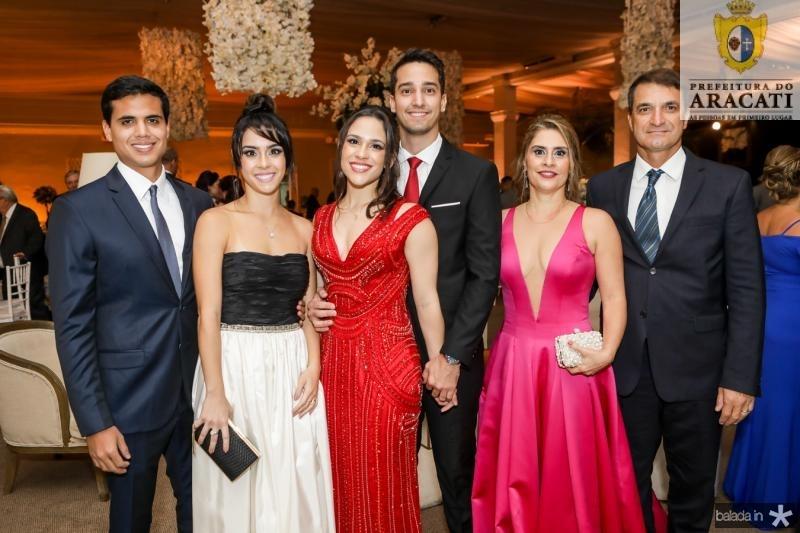 Vitor Rolim, Larissa Cavalcante, Lia Cavalcante, Vitor Araujo, Fernanda Cavalcante e Guerde Buttgereit