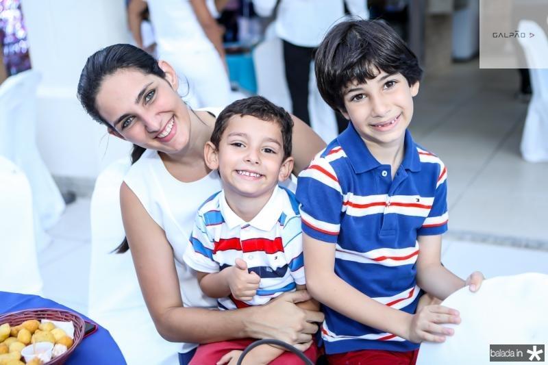 Mariana, Lucas e Vitor Jereissati
