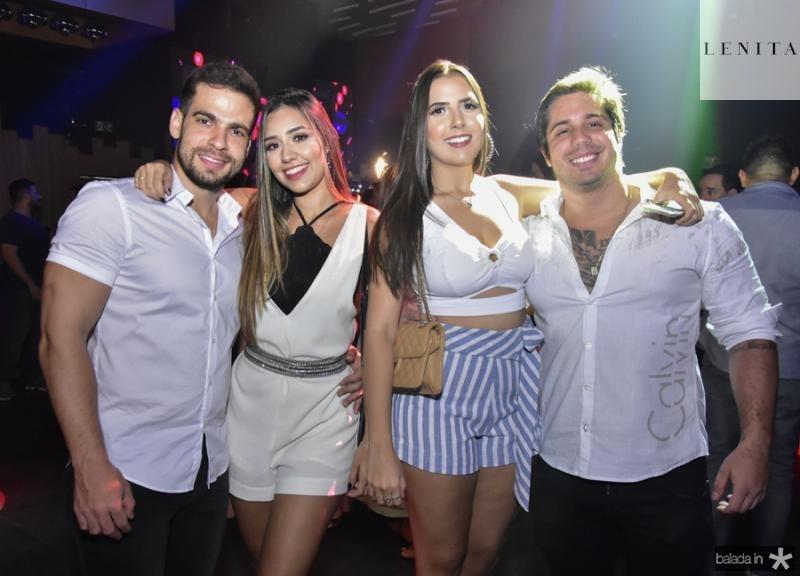 Lucas Bastos, Beatriz Bibar, Livia Pontes e David Sales