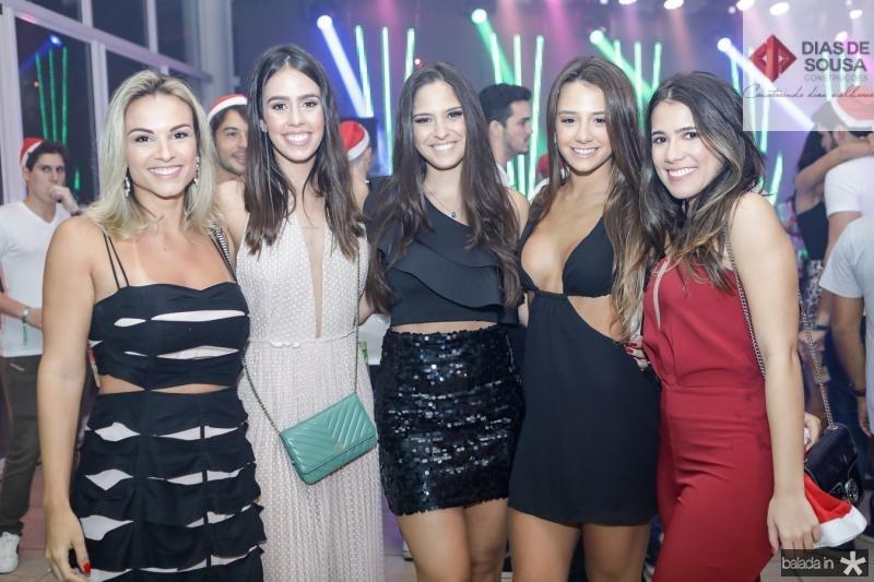 Raissa Soares, Julia Leal, Milla Twardy, Roberta Braune e Vitoria Macedo